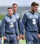 1 September 2015; Eunan O'Kane, Republic of Ireland,  during squad training. Republic of Ireland Squad Training, Abbotstown, Co. Dublin. Picture credit: David Maher / SPORTSFILE