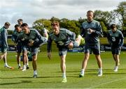 2 August 2015; Stephen Quinn, Robbie Keane and Adam Rooney, Republic of Ireland, during squad training. Republic of Ireland Squad Training. Abbotstown, Co. Dublin. Picture credit: David Maher / SPORTSFILE