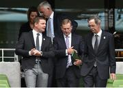 2 August 2015; An Taoiseach Enda Kenny TD, centre, with Irish rugby legend Brian O'Driscoll, and Dick Spring, Chairman of the Oversight Board. Rugby World Cup 2023 Oversight Board Meeting. Aviva Stadium, Lansdowne Road, Dublin. Picture credit: Cody Glenn / SPORTSFILE