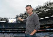2 August 2015; Líofa points the way at Croke Park. Pictured is Bernard Dunne, former champion boxer, at the Líofa launch in Croke Park. Picture credit: Piaras Ó Mídheach / SPORTSFILE