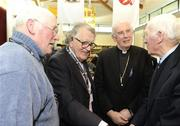 13 March 2009; Sean O'Neill, Dr Maurice Hayes, Cardinal Sean Brady and Mick Higgins, Cavan, during the GAA 125 Years History Conference. The conference entitled, 'For Community, Club, County and Country', is a celebration of 125 years of GAA history. Cardinal Ó Fiaich Library & Archive, Armagh. Picture credit: Oliver McVeigh / SPORTSFILE