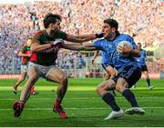 5 September 2015; Bernard Brogan, Dublin, in action against Ger Cafferkey, Mayo. GAA Football All-Ireland Senior Championship Semi-Final Replay, Dublin v Mayo. Croke Park, Dublin. Picture credit: Tomas Greally / SPORTSFILE