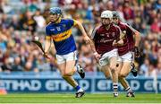 6 September 2015; Alan Tynan, Tipperary, in action against Jack Coyne, Galway. Electric Ireland GAA Hurling All-Ireland Minor Championship Final, Galway v Tipperary, Croke Park, Dublin. Picture credit: Diarmuid Greene / SPORTSFILE