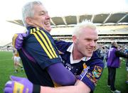 17 March 2009; Kilmacud Crokes manager Paddy Carr celebrates with Mark Vaughan after the final whistle. AIB All-Ireland Senior Club Football Championship Final, Crossmaglen Rangers, Co. Armagh v Kilmacud Crokes, Dublin. Croke Park, Dublin. Picture credit: Brendan Moran / SPORTSFILE