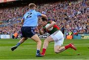 5 September 2015; Andy Moran, Mayo, in action against Jonny Cooper, Dublin. GAA Football All-Ireland Senior Championship Semi-Final Replay, Dublin v Mayo. Croke Park, Dublin. Picture credit: Piaras Ó Mídheach / SPORTSFILE