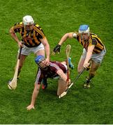 6 September 2015; Cyril Donnellan, Galway, in action against Michael Fennelly, left, and TJ Reid, Kilkenny. GAA Hurling All-Ireland Senior Championship Final, Kilkenny v Galway, Croke Park, Dublin. Picture credit: Dáire Brennan / SPORTSFILE