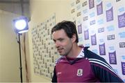 6 September 2015; Galway manager Jeffrey Lynskey is interviewed before the game. Electric Ireland GAA Hurling All-Ireland Minor Championship Final, Galway v Tipperary, Croke Park, Dublin. Picture credit: Diarmuid Greene / SPORTSFILE