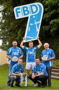 11 September 2015; From left, back, Johnny Magee, Mark Vaughan, Charlie Nelligan, front, Paul Mannion and Ray Cosgrove, in attendance at the FBD7s Senior All Ireland Football 7s at Kilmacud Crokes, Stillorgan, Co. Dublin. Picture credit: David Maher / SPORTSFILE