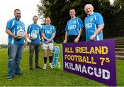 11 September 2015; From left, Johnny Magee, Paul Mannion, Mark Vaughan, Ray Cosgrove and Charlie Nelligan, in attendance at the FBD7s Senior All Ireland Football 7s at Kilmacud Crokes, Stillorgan, Co. Dublin. Picture credit: David Maher / SPORTSFILE