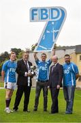 11 September 2015; Pictured in attendance at the FBD7s Senior All Ireland Football 7s at Kilmacud Crokes, were from left, Mark Vaughan, Sean Fox, Chairman of Kilmacud Crokes football, Paul Mannion, Michael Garvey, FBD, and Johnny Magee. Stillorgan, Co. Dublin. Picture credit: David Maher / SPORTSFILE