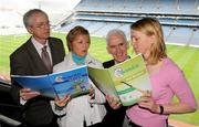 25 March 2009; Uachtaran Chumann Camogaiochta na Gael Liz Howard and Mary O'Connor, Director of Camogie Development, John Treacy, CEO Irish Sports Council,left, and Michael McGeehin, Director, NCTC/Coaching Ireland, with at the launch of 'Caman Get A Grip' and 'Caman Get Hooked' Foundation and Level 1 Coaching Education Courses. Croke Park, Dublin. Picture credit: Pat Murphy / SPORTSFILE