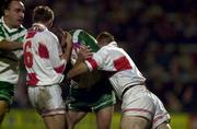 11November 2000; Terry O'Connor, Ireland is tackled by Kris Radlinski and Sean Long (6), England. England v Ireland, Rugby League World Cup, Headingley, Leeds, England. Picture credit; Matt Browne/SPORTSFILE *EDI*