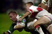 11November 2000; Terry O'Connor, Ireland is tackled by Kris Radlinski, England. England v Ireland, Rugby League World Cup, Headingley, Leeds, England. Picture credit; Matt Browne/SPORTSFILE *EDI*