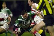 11November 2000; Barrie McDermott, Ireland is tackled by Stuart Fielden, England. England v Ireland, Rugby League World Cup, Headingley, Leeds, England. Picture credit; Matt Browne/SPORTSFILE *EDI*
