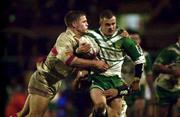 11November 2000; Steve Prescott, Ireland is tackled by Stuart Fielden, England. England v Ireland, Rugby League World Cup, Headingley, Leeds, England. Picture credit; Matt Browne/SPORTSFILE *EDI*