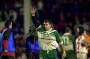 11November 2000; Ireland's Barrie McDermott waves to the crowd after Ireland went out of the World Cup. England v Ireland, Rugby League World Cup, Headingley, Leeds, England. Picture credit; Matt Browne/SPORTSFILE *EDI*