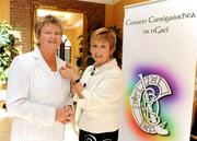 28 March 2009; Outgoing President Liz Howard, right, with Incoming President Joan O'Flynn during the Annual Congress of Cumann Camógaíochta na nGael. Abbey Court Hotel, Nenagh, Co. Tipperary. Picture credit: Pat Murphy / SPORTSFILE