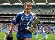 13 September 2015; Niamh Rockett, Waterford, celebrates at the end of the game. All Ireland Intermediate Camogie Championship Final, Kildare v Waterford. Croke Park, Dublin. Picture credit: David Maher / SPORTSFILE