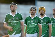 12 September 2015; Limerick players including David Dempsey, Colin Ryan and Tom Morrissey during the pre-match parade. Bord Gais Energy GAA Hurling All-Ireland U21 Championship Final, Limerick v Wexford, Semple Stadium, Thurles, Co. Tipperary. Picture credit: Diarmuid Greene / SPORTSFILE