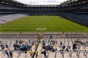 5 September 2015; Dublin supporters arrive on Hill 16 ahead of the game. GAA Football All-Ireland Senior Championship Semi-Final Replay, Dublin v Mayo. Croke Park, Dublin. Picture credit: Stephen McCarthy / SPORTSFILE