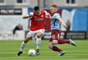 19 September 2015; Morgan Langley, St Patrick's Athletic, in action against Ryan Connelly, Galway United. EA Sports Cup Final, Galway United v St Patrick's Athletic. Eamonn Deacy Park, Galway. Picture credit: Matt Browne / SPORTSFILE