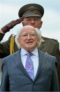 19 September 2015; President of Ireland Michael D. Higgins stands for the national anthem. EA Sports Cup Final, Galway United v St Patrick's Athletic. Eamonn Deacy Park, Galway. Picture credit: Matt Browne / SPORTSFILE