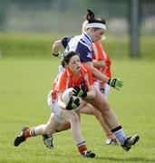 5 April 2009; Sinead McCoy, Armagh, in action against Anne Marie Murphy, Dublin. Bord Gais Energy Ladies NFL Quarter-Final, Armagh v Dublin, Clann Eireann, Lurgan, Co. Armagh. Picture credit: Oliver McVeigh / SPORTSFILE