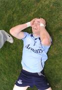 5 April 2009; Paddy Andrews, Dublin, celebrates at the end of the game. Cadbury Leinster U21 Football Championship Final, Laois v Dublin, O'Moore Park, Portlaoise, Co. Laois. Picture credit: Paul Mohan / SPORTSFILE