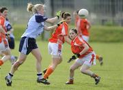 5 April 2009; Sorcha Furlong, Dublin, in action against Sinead McCoy, Armagh. Bord Gais Energy Ladies NFL Quarter-Final, Armagh v Dublin, Clann Eireann, Lurgan, Co. Armagh. Picture credit: Oliver McVeigh / SPORTSFILE