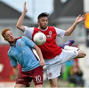 19 September 2015; Ryan Connelly, Galway United, in action against Killian Brennan, St Patrick's Athletic. EA Sports Cup Final, Galway United v St Patrick's Athletic. Eamonn Deacy Park, Galway. Picture credit: Matt Browne / SPORTSFILE