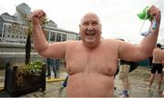 19 September 2015; Mark Farrell, from the Eastern Bay Swimming Club, after taking part in the Dublin City Liffey Swim. Dublin City Liffey Swim. Dublin. Picture credit: Cody Glenn / SPORTSFILE