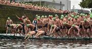 19 September 2015; A general view of the start of the Dublin City Liffey Swim. Dublin City Liffey Swim. Dublin. Picture credit: Cody Glenn / SPORTSFILE