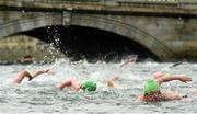 19 September 2015; A general view of competitors taking part in the Dublin City Liffey Swim. Dublin City Liffey Swim. Dublin. Picture credit: Cody Glenn / SPORTSFILE