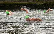 19 September 2015; A general view of the Dublin City Liffey Swim. Dublin City Liffey Swim. Dublin. Picture credit: Cody Glenn / SPORTSFILE