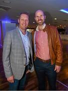 19 September 2015; Graham Geraghty, Meath, and Brian Stynes, Dublin, at the GPA Former Players Event in Croke Park. Over 400 former county footballers and hurlers gathered at the annual lunch which is now in its third year. The event is part of the GPA's efforts to develop an active player alumi. Croke Park, Dublin. Picture credit: Ray McManus / SPORTSFILE