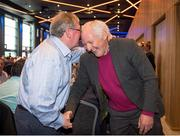 19 September 2015; Seamus Darby, Offaly, and Charlie Nelligan, Kerry, at the GPA Former Players Event in Croke Park. Over 400 former county footballers and hurlers gathered at the annual lunch which is now in its third year. The event is part of the GPA's efforts to develop an active player alumi. Croke Park, Dublin. Picture credit: Ray McManus / SPORTSFILE