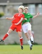 10 April 2009; Niamh Mulcahy, Republic of Ireland, in action against Chantal Fimian, Switzerland. Women's U19 International Friendly, Republic of Ireland v Switzerland, Tolka Rovers, Frank Cooke Park, Dublin. Picture credit: Paul Mohan / SPORTSFILE