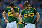 20 September 2015; Kerry's Donnchadh Walsh, right, and Anthony Maher, following their side's loss. GAA Football All-Ireland Senior Championship Final, Dublin v Kerry, Croke Park, Dublin. Picture credit: Ramsey Cardy / SPORTSFILE