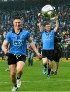 20 September 2015; Dublin's Paddy Andrews celebrates with the Sam Maguire cup after the game with teammate John Small. GAA Football All-Ireland Senior Championship Final, Dublin v Kerry, Croke Park, Dublin. Picture credit: David Maher / SPORTSFILE