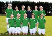 10 April 2009; The Republic of Ireland team. Women's U19 International Friendly, Republic of Ireland v Switzerland, Tolka Rovers, Frank Cooke Park, Dublin. Picture credit: Paul Mohan / SPORTSFILE