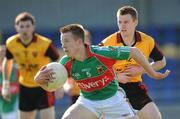 18 April 2009; Donal Vaughan, Mayo, in action against Jamie O'Reilly, Down. Cadbury Under 21 All-Ireland Football Championship Semi-Final, Mayo v Down, Pearse Park, Longford. Picture credit: Pat Murphy / SPORTSFILE