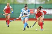 26 April 2009; Grace Irwin, Pegasus, in action against Rosie Carrigan, UCD. ESB Irish Senior Women's Cup Final, Pegasus v UCD, National Hockey Stadium, UCD, Dublin. Picture credit: David Maher / SPORTSFILE