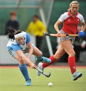 26 April 2009; Liz McInerney, UCD, in action against Lynsey Mallon, Pegasus. ESB Irish Senior Women's Cup Final, Pegasus v UCD, National Hockey Stadium, UCD, Dublin. Picture credit: David Maher / SPORTSFILE