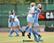 26 April 2009; Caitriona McGlip, left, and Liz McInerney , UCD, celebrate after victory over Pegasus. ESB Irish Senior Women's Cup Final, Pegasus v UCD, National Hockey Stadium, UCD, Dublin. Picture credit: David Maher / SPORTSFILE