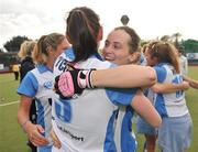 26 April 2009; Fiona Bradish, right, UCD, celebrates with her team-mate Marie O'Connell after victory over Pegasus. ESB Irish Senior Women's Cup Final, Pegasus v UCD, National Hockey Stadium, UCD, Dublin. Picture credit: David Maher / SPORTSFILE