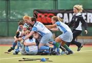 26 April 2009; UCD players celebrate after victory over Pegasus. ESB Irish Senior Women's Cup Final, Pegasus v UCD, National Hockey Stadium, UCD, Dublin. Picture credit: David Maher / SPORTSFILE