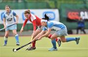 26 April 2009; Lisa Jacob, UCD, in action against Alex Speers, Pegasus. ESB Irish Senior Women's Cup Final, Pegasus v UCD, National Hockey Stadium, UCD, Dublin. Picture credit: David Maher / SPORTSFILE