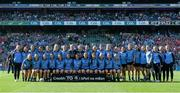 27 September 2015; The Dublin squad. TG4 Ladies Football All-Ireland Senior Championship Final, Croke Park, Dublin. Picture credit: Ramsey Cardy / SPORTSFILE