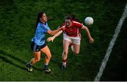 27 September 2015; Molly Lamb, Dublin, in action against Áine O'Sullivan, Cork. TG4 Ladies Football All-Ireland Senior Championship Final, Croke Park, Dublin. Picture credit: Dáire Brennan / SPORTSFILE