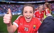 27 September 2015; Orlagh Farmer, Cork, celebrates after the game. TG4 Ladies Football All-Ireland Senior Championship Final, Croke Park, Dublin. Picture credit: Paul Mohan / SPORTSFILE